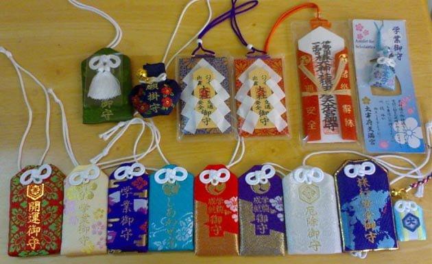 omamori, amuletos japoneses