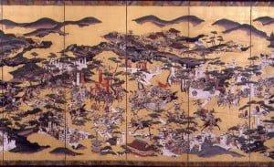 Ilustración de la batalla de Sekigahara