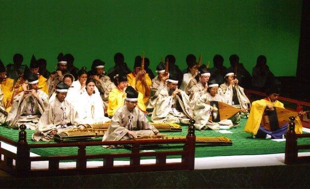 Obra de gagaku en Japón