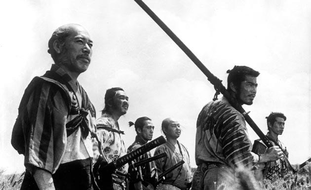 Escena de Los Siete Samuráis, de Akira Kurosawa
