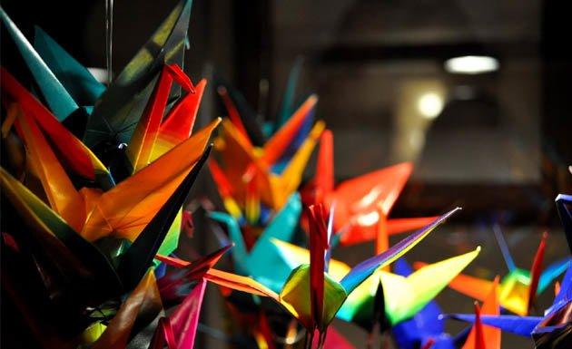 Grullas de origami