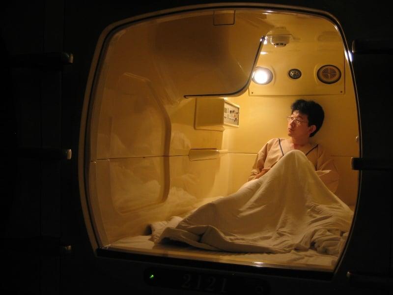 Hoteles cápsula en Japón