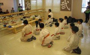 Escuela de karate en Japón