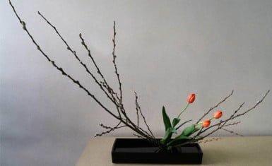 arreglo floral de ikebana