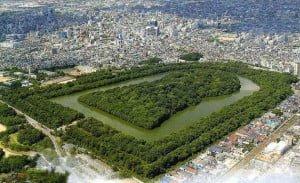 Tumba del periodo Kofun, vista aérea