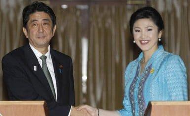 Primeros Ministros de Japón y Tailandia