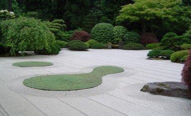los jardines zen se inspiraron de la poesa china y las pinturas con tinta del siglo ix y x con plasmadas de desolacin