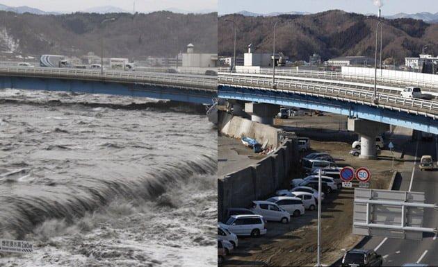 Fukushima antes y después