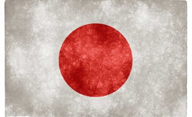 Bandera estilizada de Japón