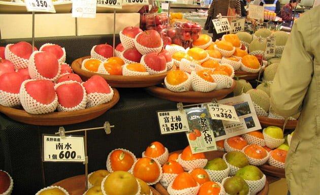 mercado de frutas en Japón