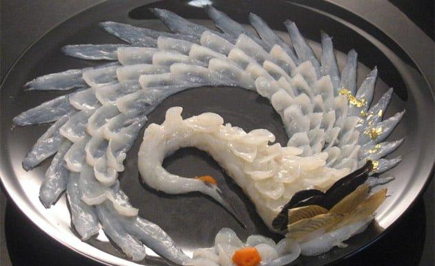 fugu, pez globo, gastronomía japonesa
