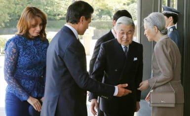Presidente y Primera Dama de México con la familia imperial