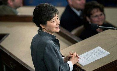 Park Geun Hye ante el congreso de Estados Unidos