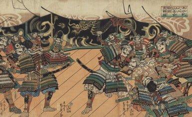 consejo antes de la batalla de yamazaki
