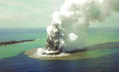 erupción volcánica nishinoshima