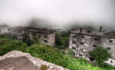Matsuo pueblo fantasma en Japón