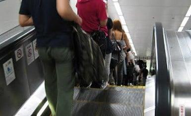 escaleras eléctricas en Japón