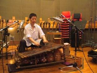 Midori Takada en grabación