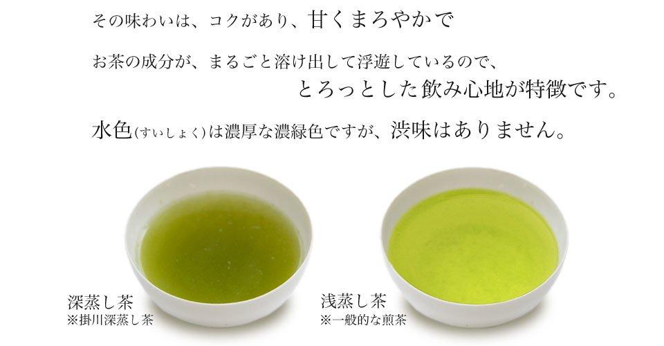 Comparación entre fukamushicha y asamushicha