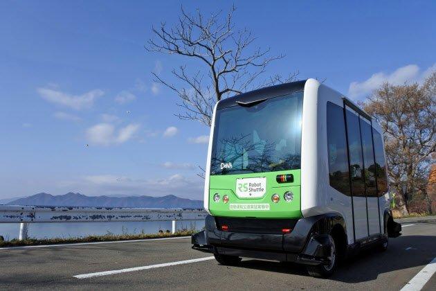 autobuses sin conductor en Senboku