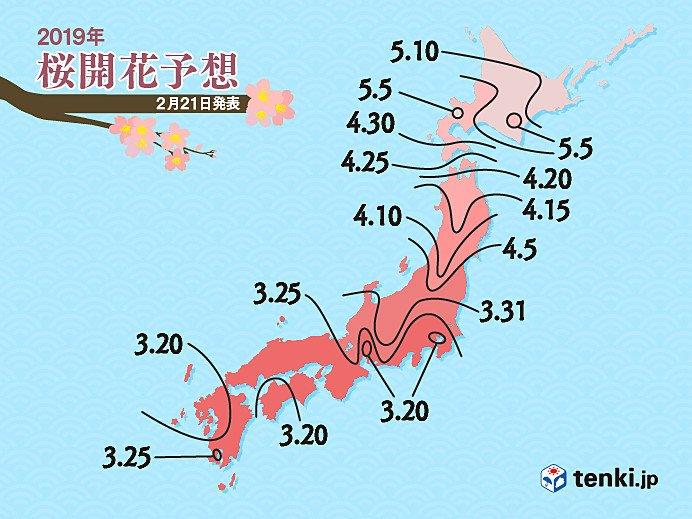 Pronóstico de la apertura de las flores de sakura